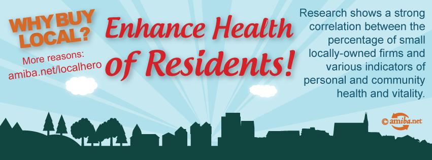 Reason #11 – Enhance Health of Residents!