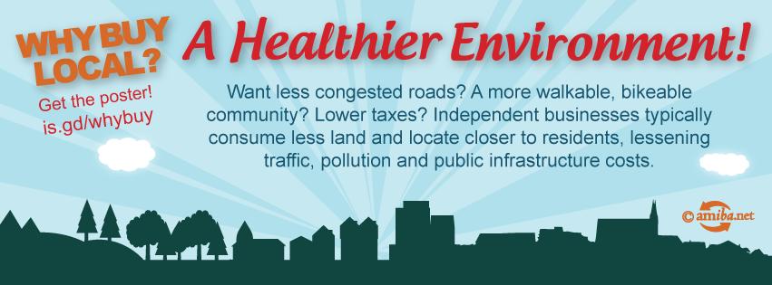 Reason #3 – A Healthier Environment!