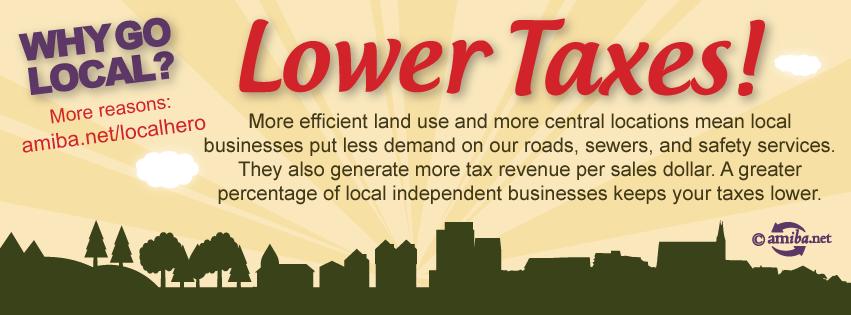 Reason #4 – Lower Taxes!